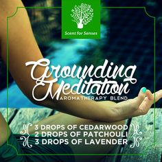Scent for Senses' Grounding Meditation Blend reconnects you to the energy of the earth. Diffuse this blend for 30 to 60 minutes while imagining yourself standing in your bare feet on earth's soil.  #IndulgeWithScentForSenses  Follow us on Twitter, Instagram & Pinterest: Scent4Senses