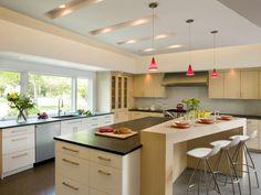 Grifflose Designinselküche GL 5690 in Rot (Ballerina Küchen ... | {Dan küchen mit kochinsel 18}