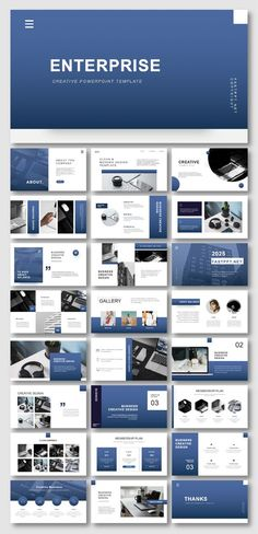 2 in 1 Blue & Gray Business Presentation Template Easy customizable contents. No Photoshop or other tools needed! Brand Presentation, Business Presentation Templates, Presentation Layout, Marketing Presentation, Web Design, Slide Design, Design Layouts, Brochure Design, Graphic Design