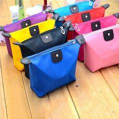 Waterproof Fashion Cosmetic Bag Korean dumpling shape cute jewelry travel wash Storage bag handbag free shipping S309