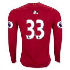Liverpool 16-17 Jordon #Ibe 33 Hjemmebanesæt Lange ærmer,245,14KR,shirtshopservice@gmail.com