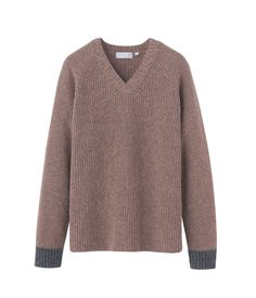 heavy gauge V neck sweater