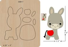 New mouse Wooden die fit Big Shot  Scrapbooking C-236-28