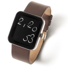 The Lexon chrome Script Watch is a new concept. Digital display with a curved font! Buy this unique designer digital watch now at Gifts with Style. Digital Watch, Cool Watches, Apple Watch, Smart Watch, Gifts, Stuff To Buy, Script, Chrome, Concept