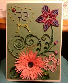 Congratulation card by quilling