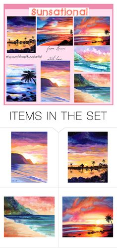 """""""Sunsational Hawaii"""" by imaginebaby ❤ liked on Polyvore featuring art"""