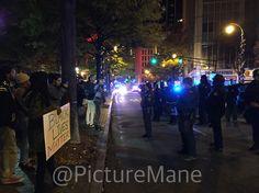 Protesting in Atlanta