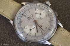 Wow.  Rare is an understatement for this vintage Rolex chronograph ref # 4113.  Produced in the 1940's, few are in existence and inspight of some heavy wear and blemishes it's still expected to auction at between $800,000 and $1.6 million.  Start saving.  #Rolex #DKwatches #chronograph