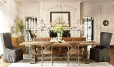 Exciting Arhaus Kensington Dining Table Light Wood French Country Styling