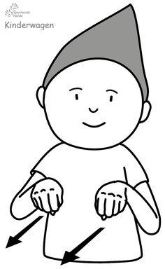 Kinderwagen Babyzeichen Babyzeichensprache Gebärdensprache Babygebärden Kindergebärden GuK