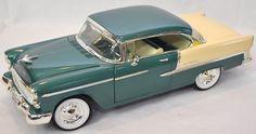 Ertl 1 18 1955 Chevy Bel Air Neptune Green 7256 Error American Muscle SEALED '55   eBay