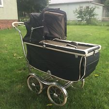 Vintage Blue 1950's Stroll-O-Chair Rex Baby Carriage