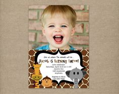 Custom Printable ZOO or JUNGLE Birthday by thepaperblossomshop, $12.00