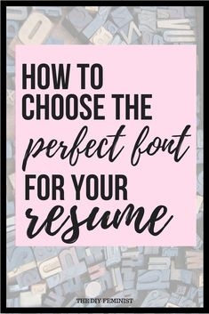 How to Choose the Best Fonts for your Resume Cover Letter Tips, Writing A Cover Letter, Cover Letters, Resume Fonts, Resume Tips, Free Resume, How To Make Resume, Create A Resume, Word Fonts