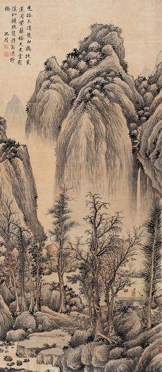 Shen Zhou | Shen Zhou: Crossing A Wild Bridge | Chinese Painting | China Online ...