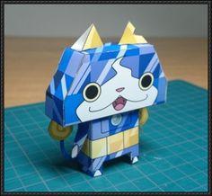 Yo-Kai Watch - Sapphinyan Free Paper Toy Download - http://www.papercraftsquare.com/yo-kai-watch-sapphinyan-free-paper-toy-download.html