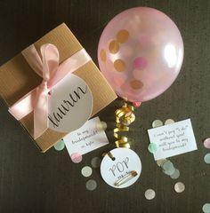 Will You Be My Bridesmaid? Balloon Message Kraft Gift Box. A fab and fun way to ask!