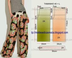 Palazzo Pants Pattern … I don't think these are my best look for preggo… – Moldes Moda Sewing Patterns Free, Sewing Tutorials, Clothing Patterns, Dress Patterns, Shirt Patterns, Sewing Pants, Sewing Clothes, Barbie Clothes, Fashion Sewing