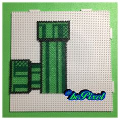 Super Mario World Tunnel #mariobros #supermario #sprites #retrogame #nes #snes #nintendo  #supernintendo  #beads #bepixel #retro #retrospiele  #nintendo  #hama #spielzeughafen #pearlerbeads #pearler #diy  #pixelart #bügelperlen #midibeads #meltybeads #artkalbeads #perlerart #8bitpixel #artkal #artkalbeads #pärla #pärlplattor Perler Bead Templates, Diy Perler Beads, Pearler Beads, Fuse Beads, Mario Bros, Mario And Luigi, Pearler Bead Patterns, Perler Patterns, Pixel Art