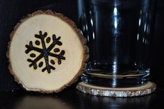 Handcrafted 'Snowflake' Woodburned Coasters by ZSDesign on Etsy