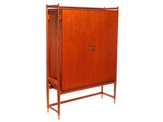 Custom Teak Cabinet by Finn Juhl | From a unique collection of antique and modern wardrobes and armoires at https://www.1stdibs.com/furniture/storage-case-pieces/wardrobes-armoires/
