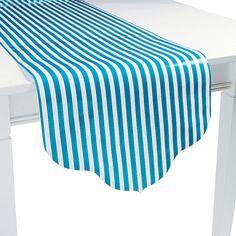 Turquoise Reversible Table Runner - OrientalTrading.com