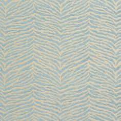 B0870D Aqua Light Blue Woven Zebra Look Chenille Upholstery Fabric By The Yard