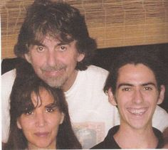 George Harrison with wife Olivia and son Dani