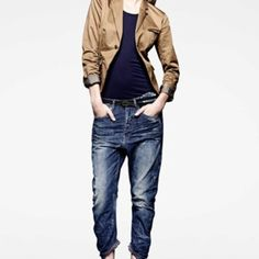 GSTAR Reeve - check out these jeans. funky and different and THEY FIT! Blue Outfits, Gstar, Great Cuts, Modern Women, My Jeans, G Star Raw, Minimalist Fashion, Royal Blue, High Heels