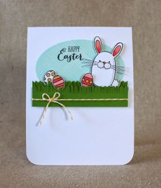 April Color Play - Happy Easter Card by Lizzie Jones for Papertrey Ink (April 2014)