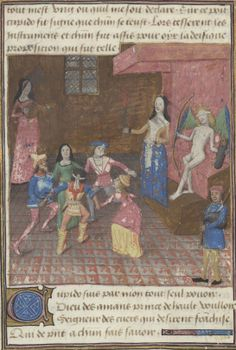 French King as Cupid Medieval Music, Medieval Life, Renaissance, Dance Project, Beautiful Calligraphy, Shall We Dance, Bnf, British Library, Illuminated Manuscript