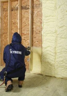 Icynene Has a New Foam With a Higher R-Value The company says its Classic Plus open-cell spray foam will help builders meet requirements of the 2012 building code. Posted on May 19 2014 by Scott Gibson (free content but registration required) Spray Insulation, Home Insulation, Types Of Insulation, Thermal Insulation, Shipping Container Homes, Underground Greenhouse, Heating And Cooling, Home Repair, Container Houses
