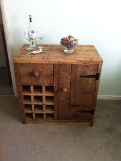 HANDMADE SOLID WOOD Rustic Dinning Room Sideboard and Wine Rack