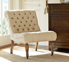 Decor Look Alikes | Pottery Barn Carolyn Tufted Slipper Chair