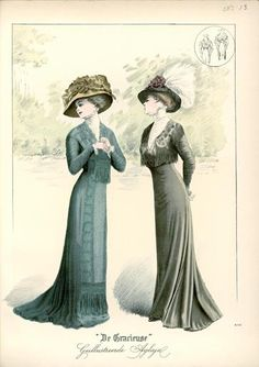 De Gracieuse July 1909, Edwardian Fashion Plate