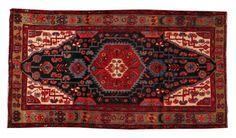 Vintage Persian Hamadan 4'7 x 8'1 by CTRugandHome on Etsy