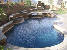 Make a retaining wall as one edge of pool...