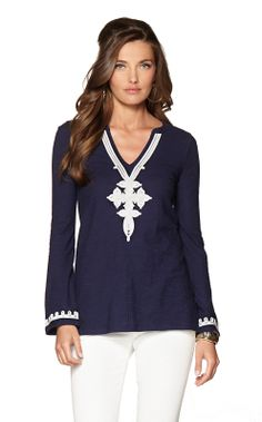 Navy Tunic - Lilly Pulitzer New Arrivals.