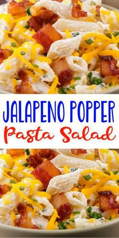 Easy Pasta Salad – Best Homemade Jalapeno Popper Pasta Salad Recipe – {Easy} Lunch – Dinner – Snacks – Side Dishes – Quick – Simple
