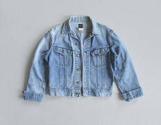 vintage 70s lee jean jacket | size s - m
