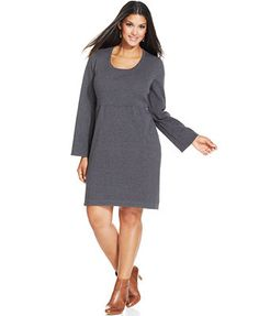 Comes in Black! Style&co. Plus Size Babydoll Sweater Dress