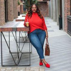 Meet Kristine Thompson, see 112 looks from Kristine Thompson for outfit ideas and style inspiration on ShopStyle Look Plus Size, Plus Size Girls, Plus Size Jeans, Plus Size Women, Plus Size Winter Outfits, Plus Size Fashion For Women, Plus Size Outfits, Xl Mode, Mode Plus