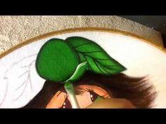 Pintura en tela niña manzana cuatro con cony - YouTube
