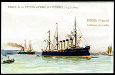 "https://flic.kr/p/9krjQZ | French Tradecard - Russian Warship ""Rossia"" 