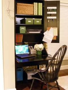 This is the perfect solution for my home station in the corner nook of the kitchen. Revised a bit, doubt I can find that desk.