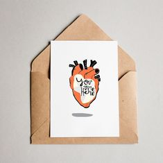 You are here inside! A Valentine's Daycard ready to print! Say it with a cool illustration... #valentnes #valentinesday #valentinescard #valentinesdaygift #valentinesdaycard #heart #heartcards #youarehere #illustration