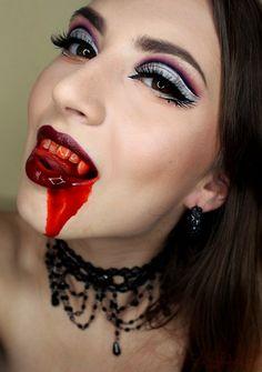 Halloween make-up idea Vamp Girl