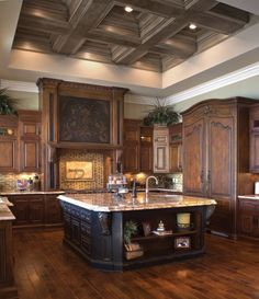 The Enchanted Home: french kitchens... This is so beautiful, elegant and roomy!! I love this space!