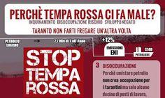 STOP TEMPA ROSSA. CONFERENZA STAMPA LUNEDI 20 OTTOBRE ORE 16 ALLA LIBRERIA UBIK (via di Palma 69) https://www.facebook.com/events/540725672728994/?context=create&previousaction=create&source=49&sid_create=3612880698  #taranto #temparossa #stoptemparossa #ilportoaitarantini