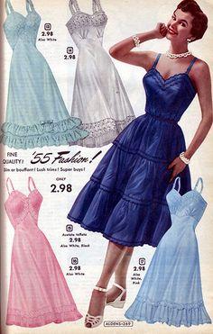 Aldens 1955 (16) | Rita Holcomb | Flickr 1950s Fashion, Vintage Fashion, Chiffon, Retro Lingerie, Nightgowns For Women, Taffeta Dress, Fashion Catalogue, Disney Dresses, Beautiful Lingerie
